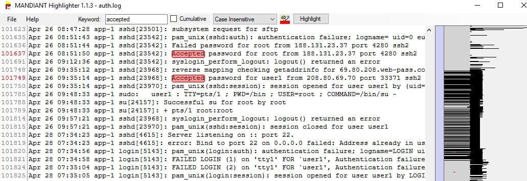 mandiant highlighter investigation log