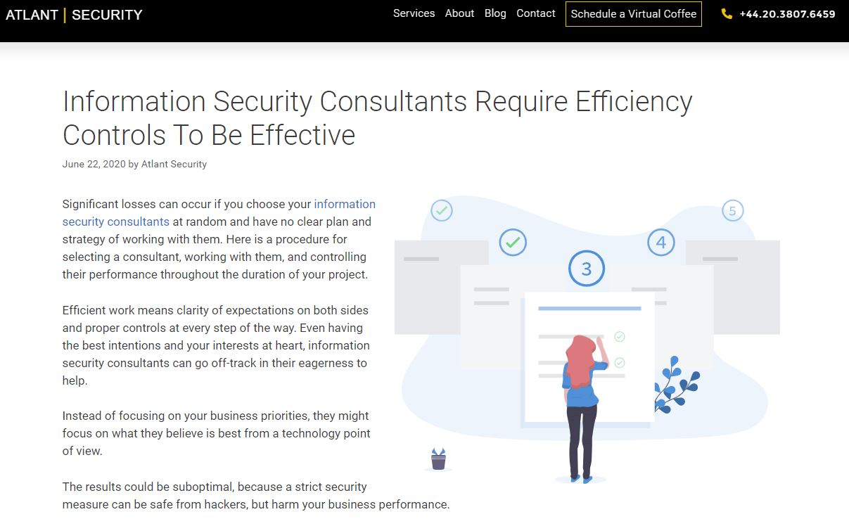 information security consultants require efficiency